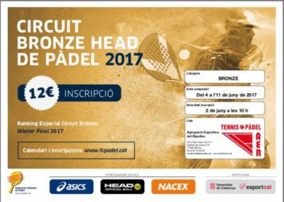 CIRCUIT BRONZE HEAD de PADÈL 2017.