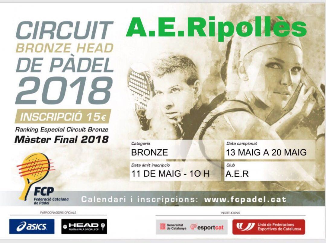 Circuite Bronze Head de pàdel 2018