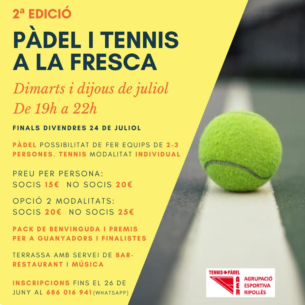 Cartell Pàdel i Tennis a la Fresca