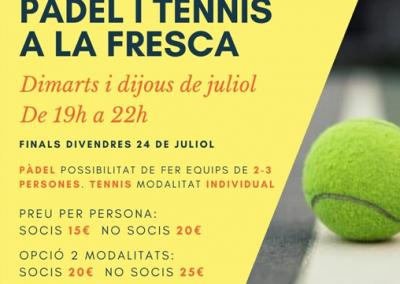 2à Edició de Pàdel i Tennis a la Fresca